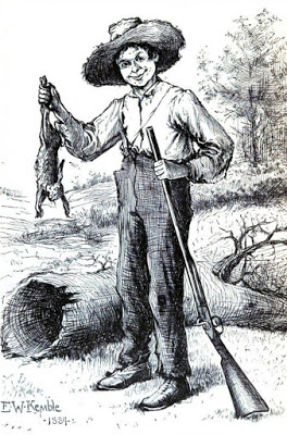 Huckleberry Finn Hunting Public Domain Clip Art Photos and Images.