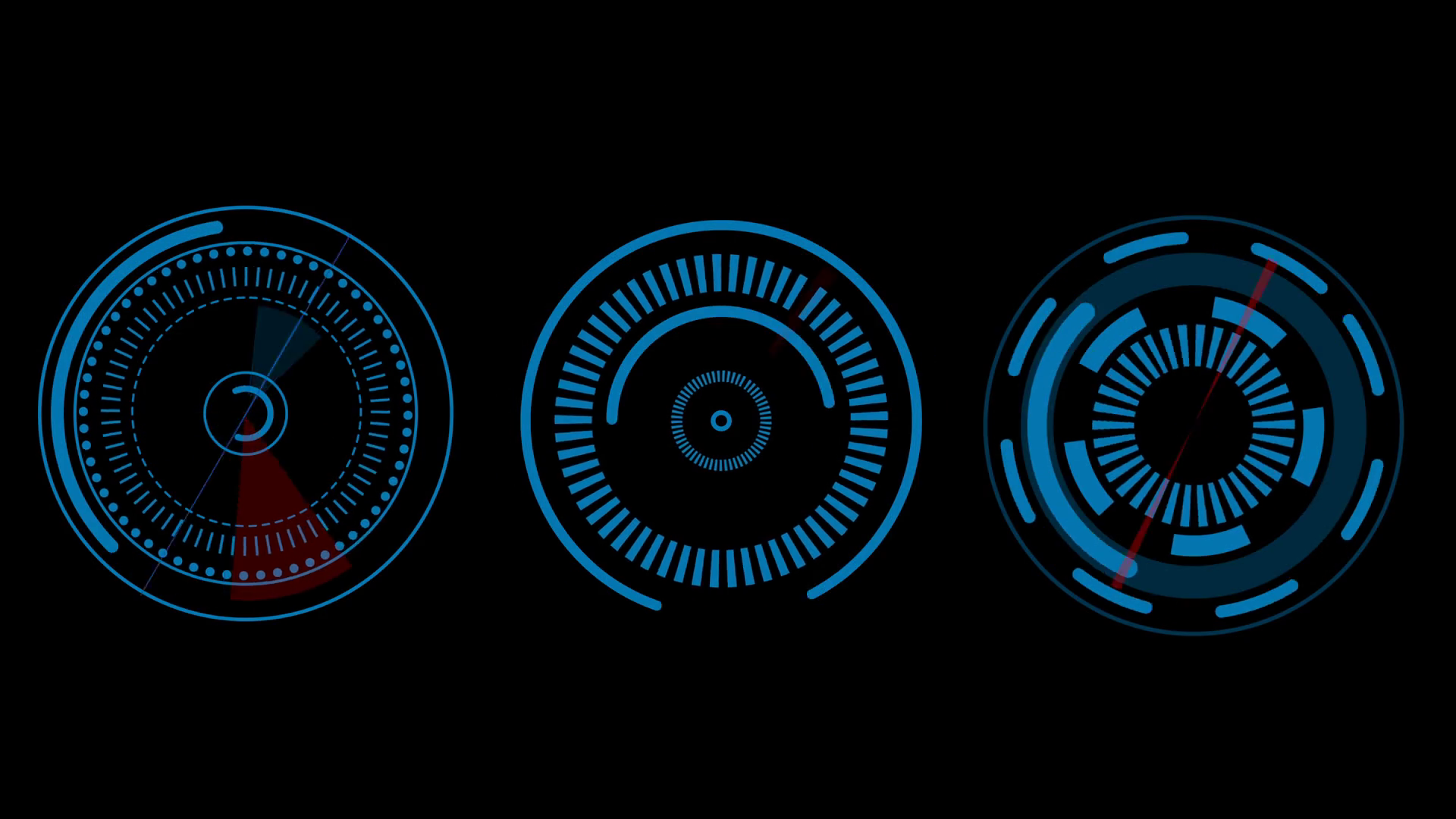 HUD Elements UI Elements. HUD Concept. Radial futuristic interface design  elements Motion Background.