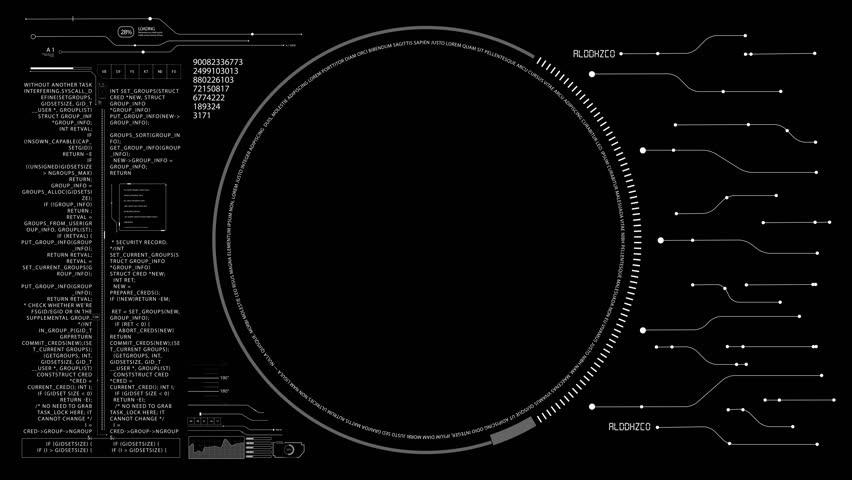 Png Alpha.hud Digital Data Interface.motherboard Stock Footage Video (100%  Royalty.