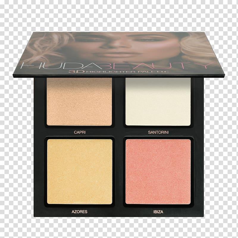 Highlighter Huda Beauty Desert Dusk Eyeshadow Palette.