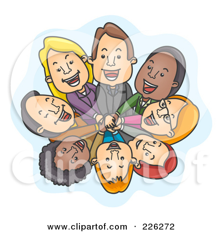 Office huddle clipart.