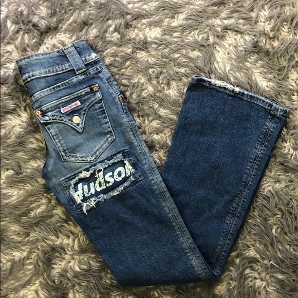 Hudson Unique Logo Jeans Size 29.