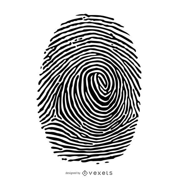 Fingerprint silhouette illustration.