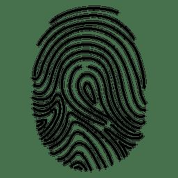 Icono de ID de huella digital.