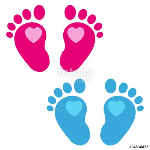 cono plano huellas de bebe corazon en varios colores