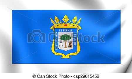 Stock Images of Flag of Huelva City, Spane..