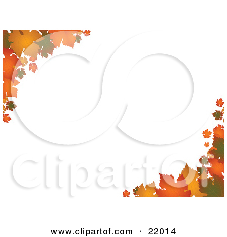 Clipart Picture of Autumn Leaves In Orange And Yellow Hues On The.