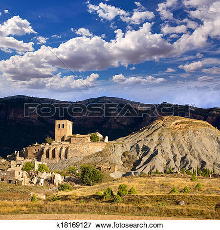 Picture of Esco in Huesca Aragon Pyrenees of Spain k18169127.