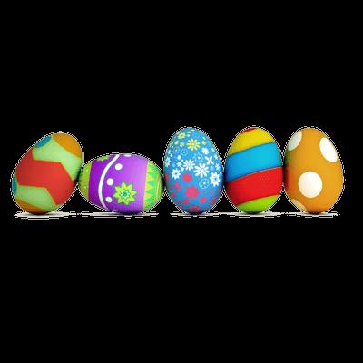 Huevos de Pascua PNG transparente.