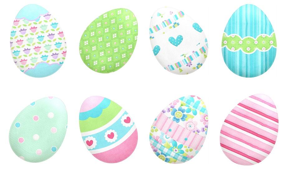 Lindos Huevos de Pascua del Clipart de Preciosidades de.