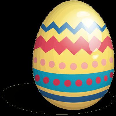 Huevo de Pascua Amarillo PNG transparente.