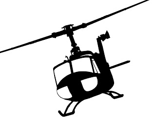 Huey Helicopter Silhouette.