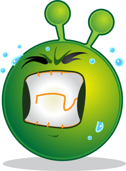 Smiley Green Alien Huf clip art Free Vector / 4Vector.