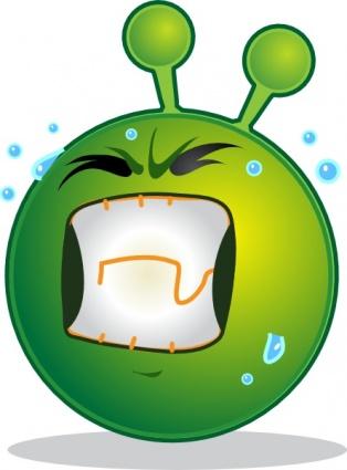 Smiley Green Alien Huf clip art clip arts, free clipart.