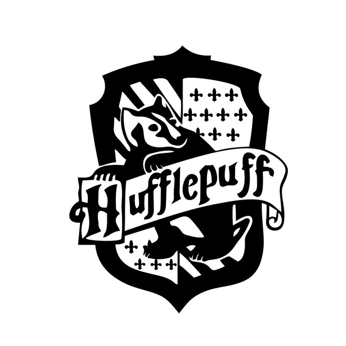 Hufflepuff Harry Potter House Badge Crest graphics design SVG DXF EPS Png  Cdr Ai Pdf Vector Art Clipart instant Digital Cut Print File Decal.