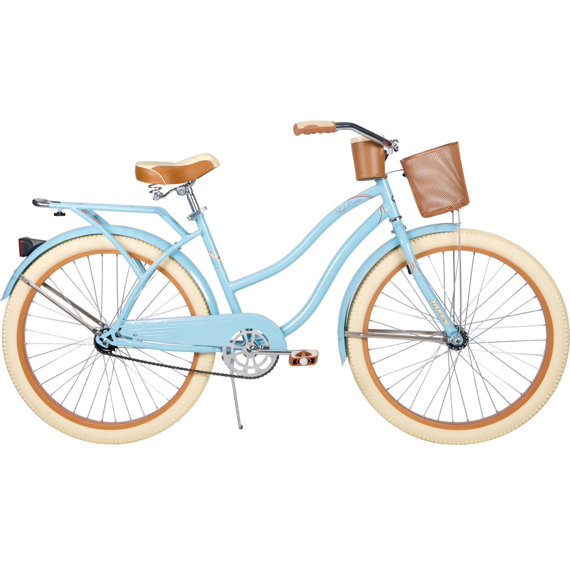 """26"""" Huffy Nel Lusso Women's Cruiser Bike, Gloss Blue."""