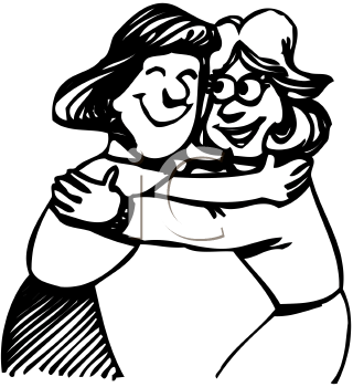 Hugs PNG Black And White Transparent Hugs Black And White.PNG Images.