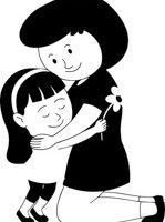Hug black and white clipart 2 » Clipart Portal.
