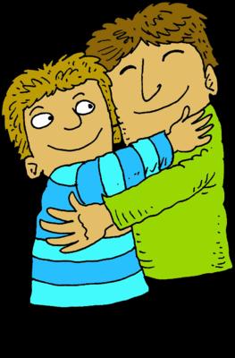 Dad hug clipart.