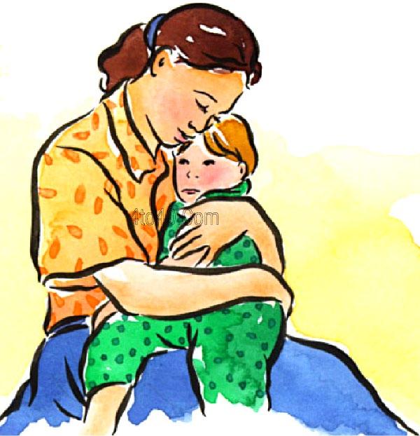 Mother hug clipart.