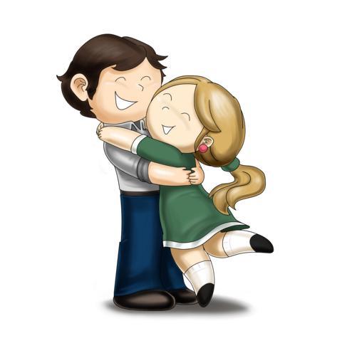 Free Cartoon Couples Hugging, Download Free Clip Art, Free Clip Art.
