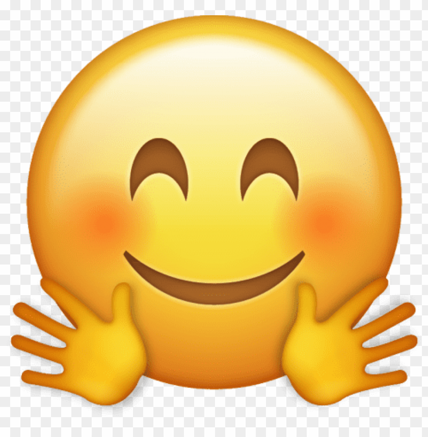 Download hugging emoji icon clipart png photo.
