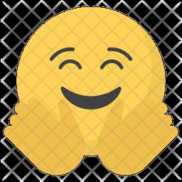 Hug Emoji Icon.