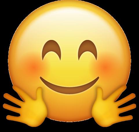 Hugging Emoji [Download iPhone Emojis].