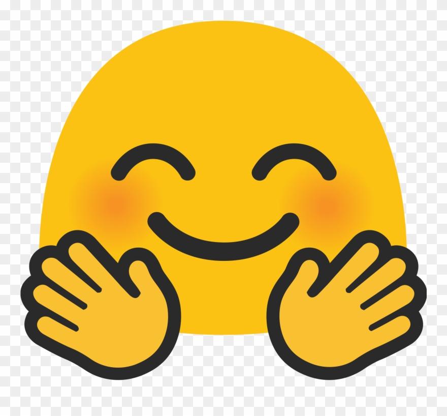 Android Hugging Emoji Face.