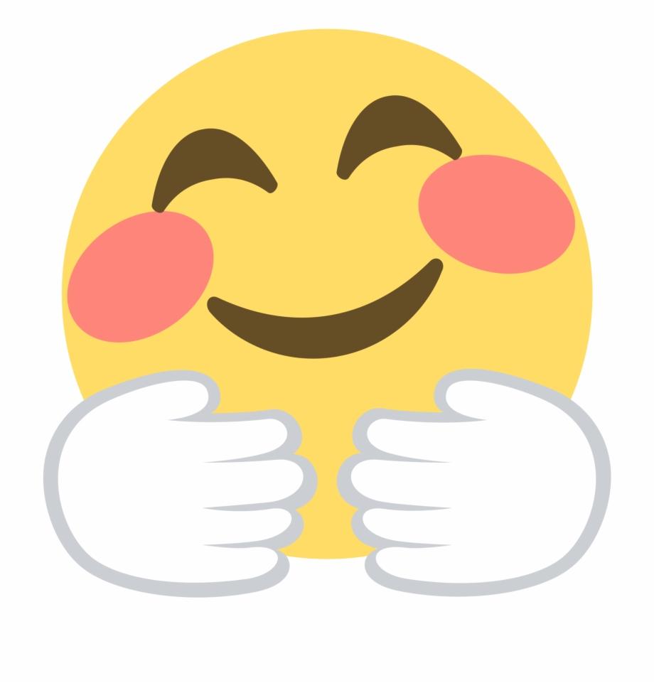 Smile Face Hugging Emoji , Png Download.