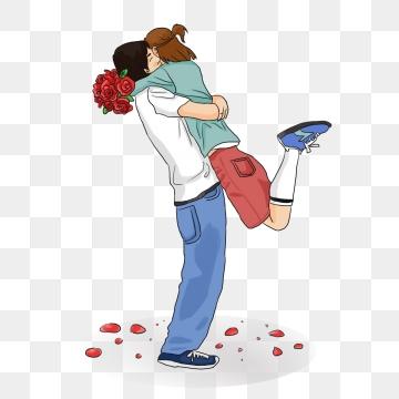 Couple Hug PNG Images.