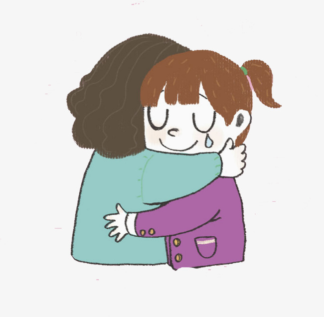 Download Free png Hugged Mother And Daughter, Cartoon, Hand, Mother.