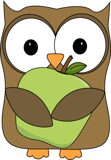 Owl holding flowers clipart.