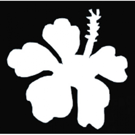 Snazaroo Face Paint Stencils Hibiscus Flower Clipart.