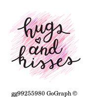 Hugs And Kisses Clip Art.