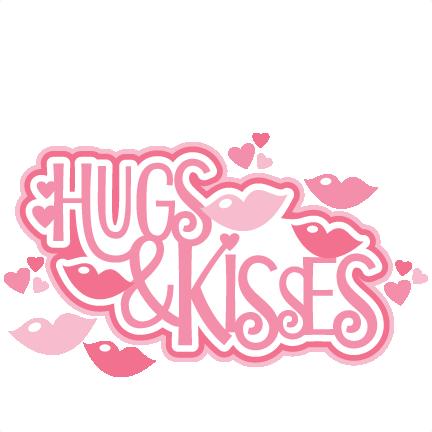 Hugs & Kisses Title SVG scrapbook cut file cute clipart files for.