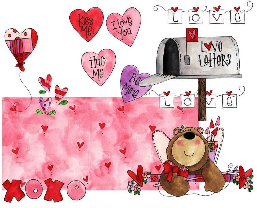 valentine display hugware.