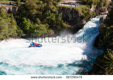 Huka Falls Stock Photos, Royalty.