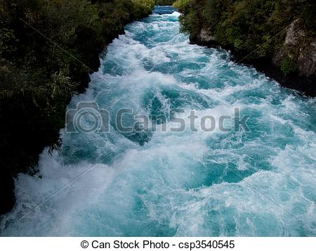 Stock Images of Huka falls in New Zealand.