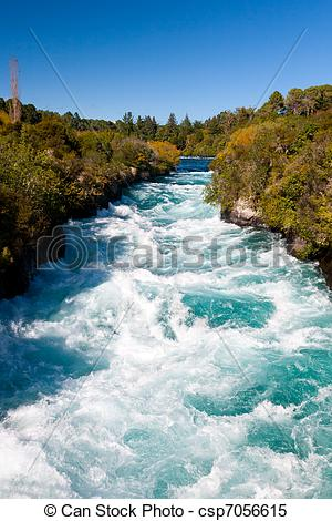 Stock Images of Huka Falls.