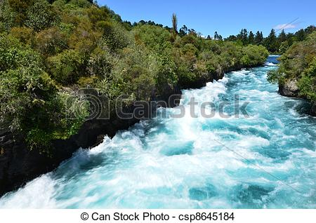 Stock Photo of Huka Falls New Zealand.