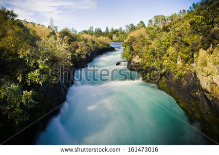 Waikato River Stock Photos, Royalty.
