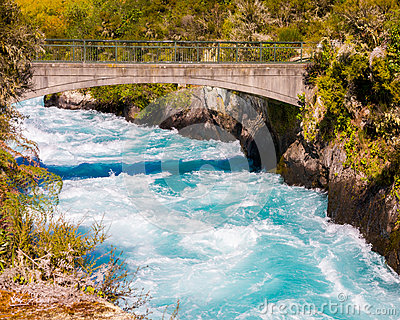 Waikato River At Huka Falls Royalty Free Stock Images.