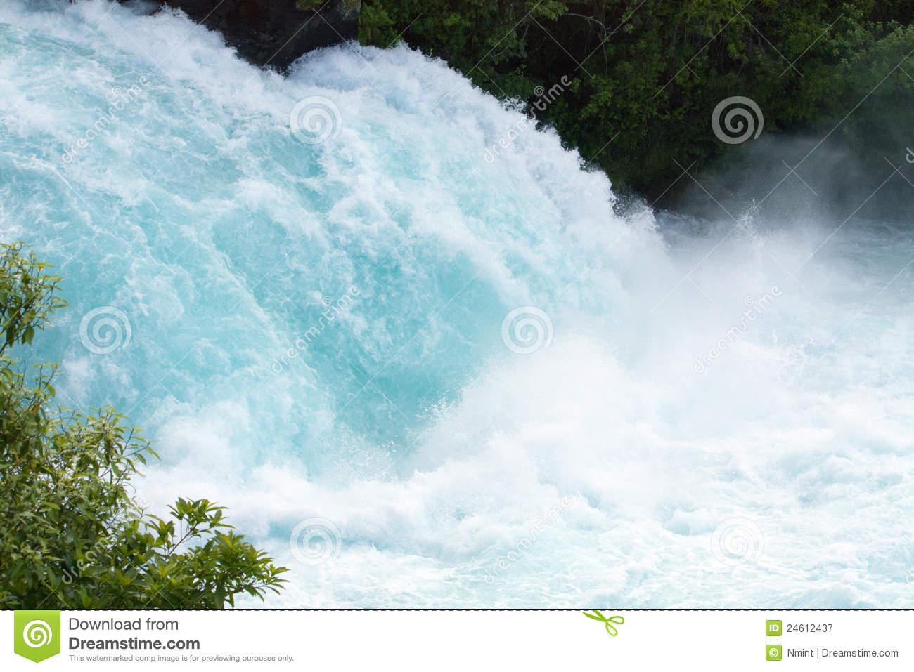 Huka Falls, Waikato River, New Zealand Royalty Free Stock.