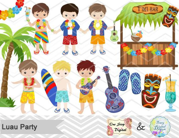 Digital Luau Boy Clipart, Instant Download Hawaii Clip Art, Tiki Party  Clipart, Hawaiian Clip Art, Hula Party Boy Clip Art, 0171.