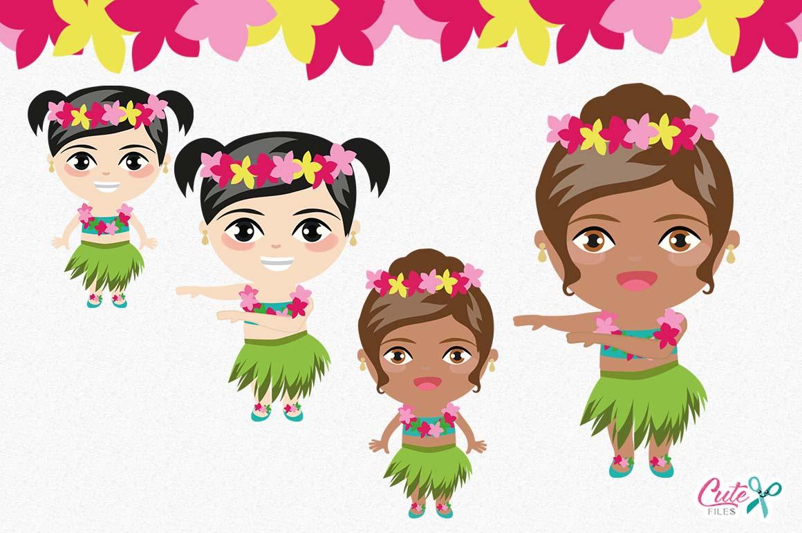 Tropical party, Summer Clipart, Luau clipart, Aloha Cliparts, Hula Clipart,  Hawaii Clip Art, Dancer Clipart,.