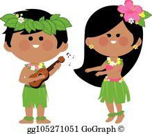 Hula Dancer Clip Art.