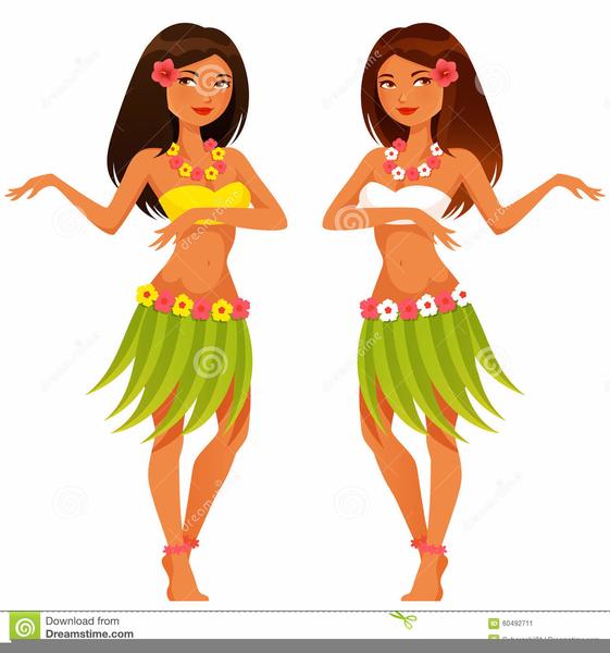 Hawaii Hula Girl Clipart.