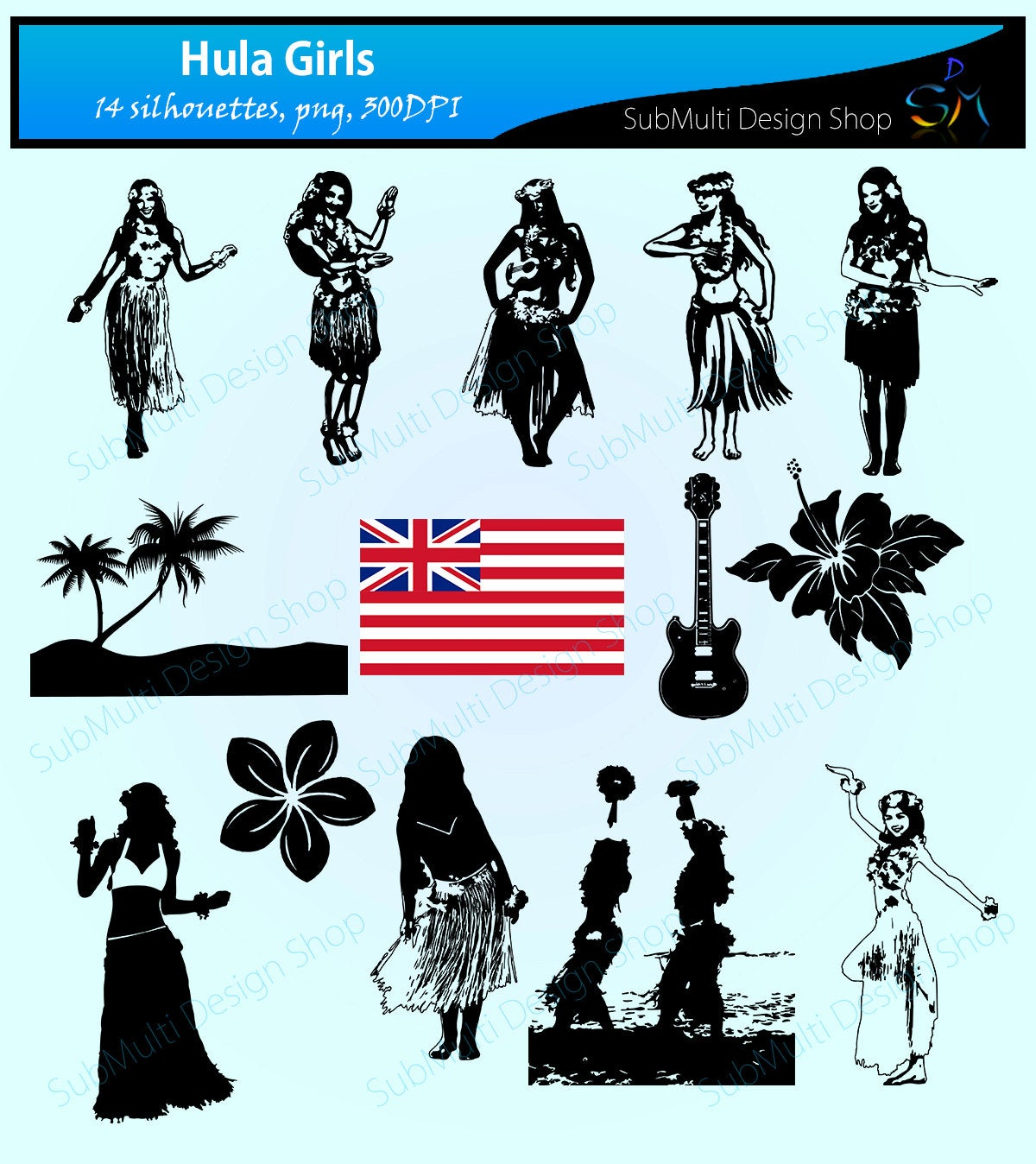 Hula girls silhouette svg / hawaii silhouette / hawaii girls silhouette /  hawaii beauty / silhouette svg cut / clipart / instant download.