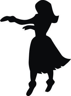 Hula Girl Silhouette Free.